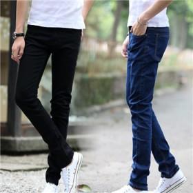 新款男士时尚牛仔裤修身型长裤男装青少年弹力小脚裤男