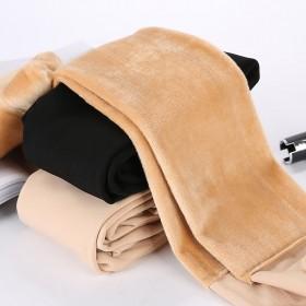 加厚加绒打底裤连裤袜神器秋冬季女外穿肉色保暖裤子