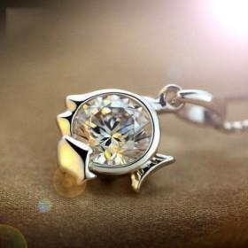 银项链女925纯银十二星座项链 12星座吊坠