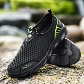 新款夏季情侣款户外溯溪鞋一脚蹬轻便透气休闲跑步鞋