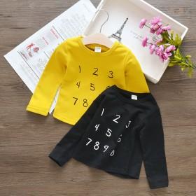 儿童韩版纯棉T恤2018春秋新款男童装长袖T恤女童