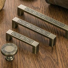 鹰盾新中式古典青古铜拉手 欧式仿古酒柜拉手 抽屉橱
