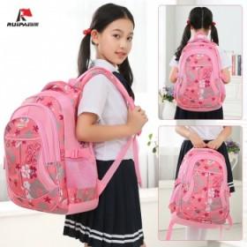 韩版减负护脊双肩包儿童书包男女1-6年级小学书包