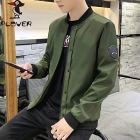 啄木鸟春季外套潮男时尚韩版修身时尚潮流连帽港仔夹克