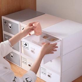 抽屉式内衣收纳盒文胸内裤袜子三件套收纳盒