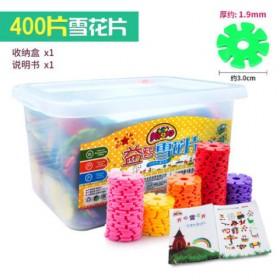 儿童雪花片中号儿童积木塑料400片装益智力玩具