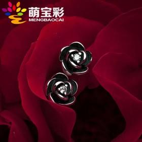 耳钉女纯银高级感设计感小众S925个性玫瑰文艺复古