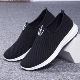 网布鞋一脚蹬休闲透气男网鞋舒适男鞋低帮鞋子男士鞋