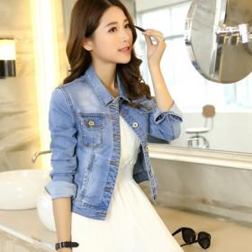 牛仔外套女短款春秋韩版宽松新款学生春季工装BF女装