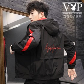 花花公子贵宾夹克男青少年学生韩版青年棒球服上衣外套