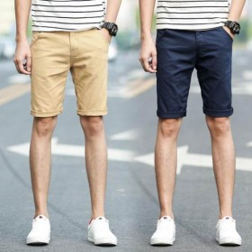 多色可选休闲薄款五分裤短裤夏天男士修身直筒中裤夏天