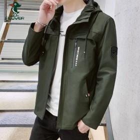 啄木鸟流行外套男春秋韩版潮流工装服潮牌上衣网红宽松