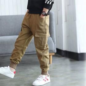 童装男童裤子2019春季新款儿童洋气长裤中大童纯色