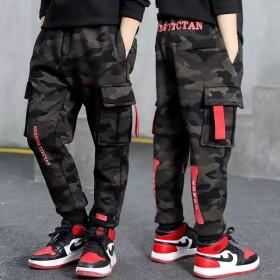 男童裤春秋款新款儿童装韩版休闲裤迷彩运动长裤