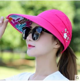帽子女夏天休闲百搭出游防紫外线韩版可折叠防晒太阳帽