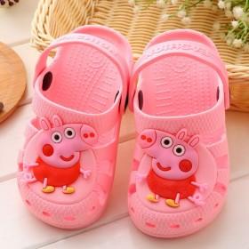 洞洞鞋小猪佩奇夏季防滑耐磨软底儿童凉鞋居家鞋