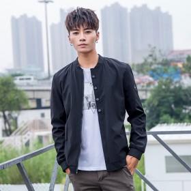 春季韩版男士风衣外套 修身潮流帅气青年短外套