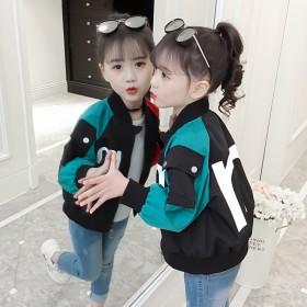 儿童外套春装男女童韩版短款时尚夹克中大童棒球服上衣