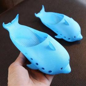 2019新款夏季儿童鱼型拖鞋搞怪卡通海豚家居家室内