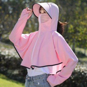 夏季电动车防晒衣女韩版短款遮阳透气大码宽松防紫外线