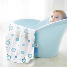 婴儿纱布浴巾宝宝纯棉盖毯新生儿6层包巾儿童抱被