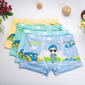 4条装包邮儿童内裤男女童内裤平角裤中小童四角学生小