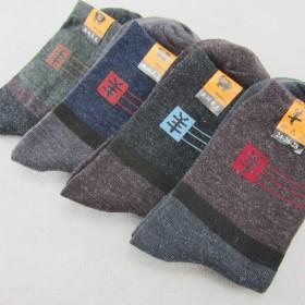 男士休闲羊毛袜子 地摊袜 加厚保暖 中筒男袜
