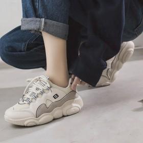 春季韩版老爹鞋女网红小熊鞋2019新款网面超火女鞋