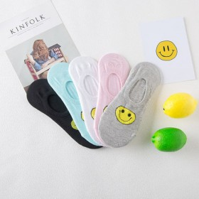夏季糖果色船袜 女款纯色浅口防滑棉袜子隐形船袜