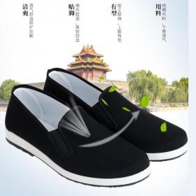 布鞋男春季透气防滑开车单鞋板鞋工作布鞋休闲鞋耐磨鞋