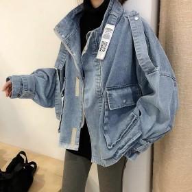 抖音ins牛仔短外套女2019春款韩版时尚网红外套
