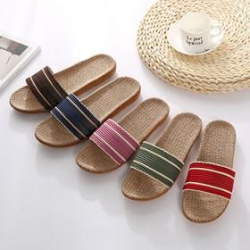 夏季拖鞋家用百搭室内时尚韩版可爱棉麻凉拖鞋