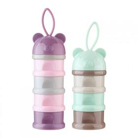 新生婴儿装奶粉盒奶粉格便携式外出分装盒宝宝奶格盒