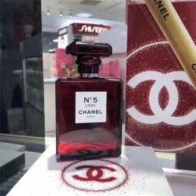 香奈儿2018圣诞限量红瓶5号香水N5红瓶100m