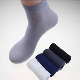 竹炭纤维中长筒男士丝袜夏季超薄男袜透气吸汗袜子纯色