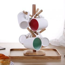 欧式陶瓷水杯套装马克杯创意家用客厅喝水茶具茶杯家用