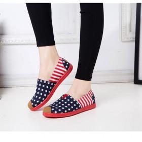 春夏透气平底女鞋老北京布鞋女单鞋一脚蹬懒人鞋
