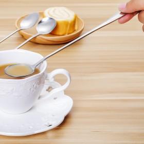 厨房创意不锈钢长柄勺子 冰勺 办公室咖啡勺搅拌勺长