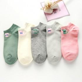 袜子女短袜浅口韩国可爱隐形船袜秋季薄款纯棉