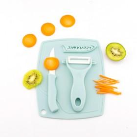 宝宝婴儿辅食砧板陶瓷水果刀刨套装儿童辅食工具