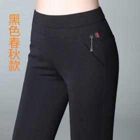加绒加厚裤子女秋冬新款高腰外穿打底裤女士大码