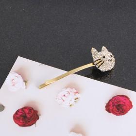 小猫猫头发夹可爱卡通猫咪一字夹气质甜美网红复古个性