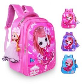 小学生书包女孩1-2-3-6年级轻便护脊儿童书包