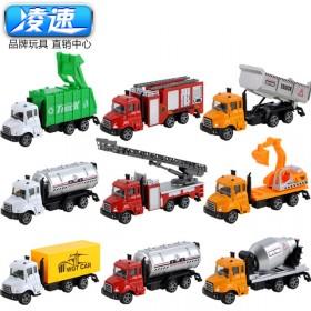 儿童玩具回力车男孩礼物救护车挖掘车汽车消防车