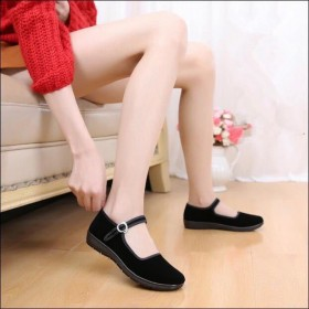 LZ老北京防滑布鞋女鞋平跟软底酒店工作鞋广场跳舞鞋