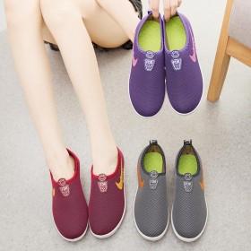 春款运动休闲布鞋女时尚健步鞋软底防滑鞋学生运动鞋