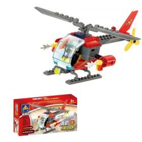 儿童节礼物儿童积木拼装益智玩具小颗粒益智喷射消防车