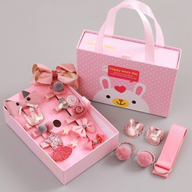 18件儿童发饰套装韩国女童发夹韩版宝宝