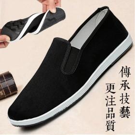 老北京布鞋男鞋防滑工作鞋春季透气平底黑布鞋男耐磨