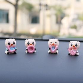 汽车装饰品小摆件车上创意可爱用品男女车子摇头猪摆件